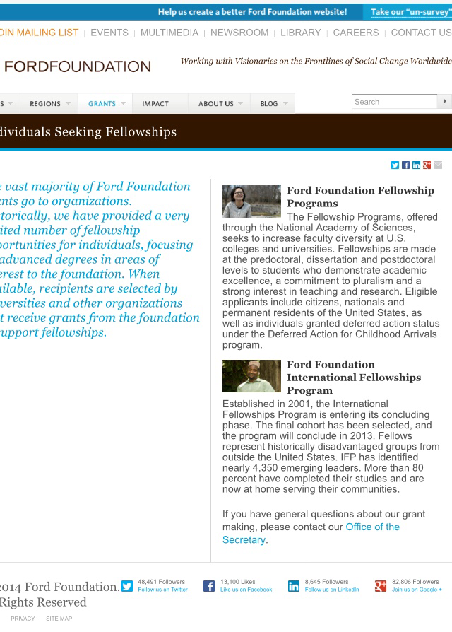 Ford dissertation fellowship application   kidakitap com ProFellow